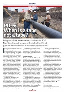 """InnovOil 6-2015 """"RD-6: When is a tape not a tape"""""""