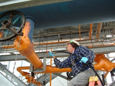 RG-2400® spray application was installed on an ammonia receiving tank.