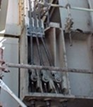 Deck Edge Elevator Cables: Corrosion weakens cables, resulting in catastrophic failures.