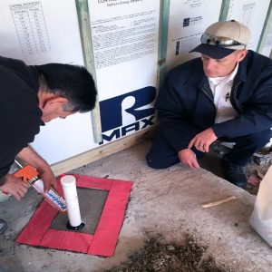 Applying Polyguard Product to Pest Control Membrane