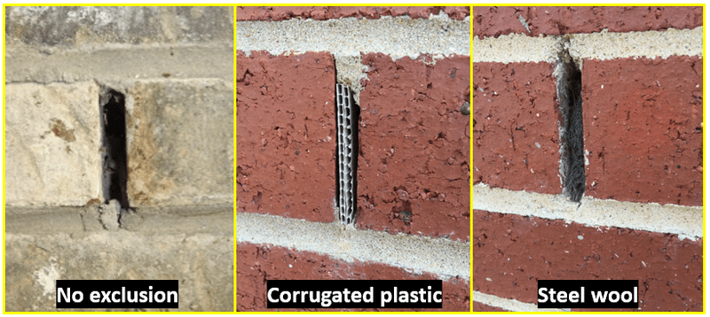 TERM® Weep and Vent Barriers for use on new construction